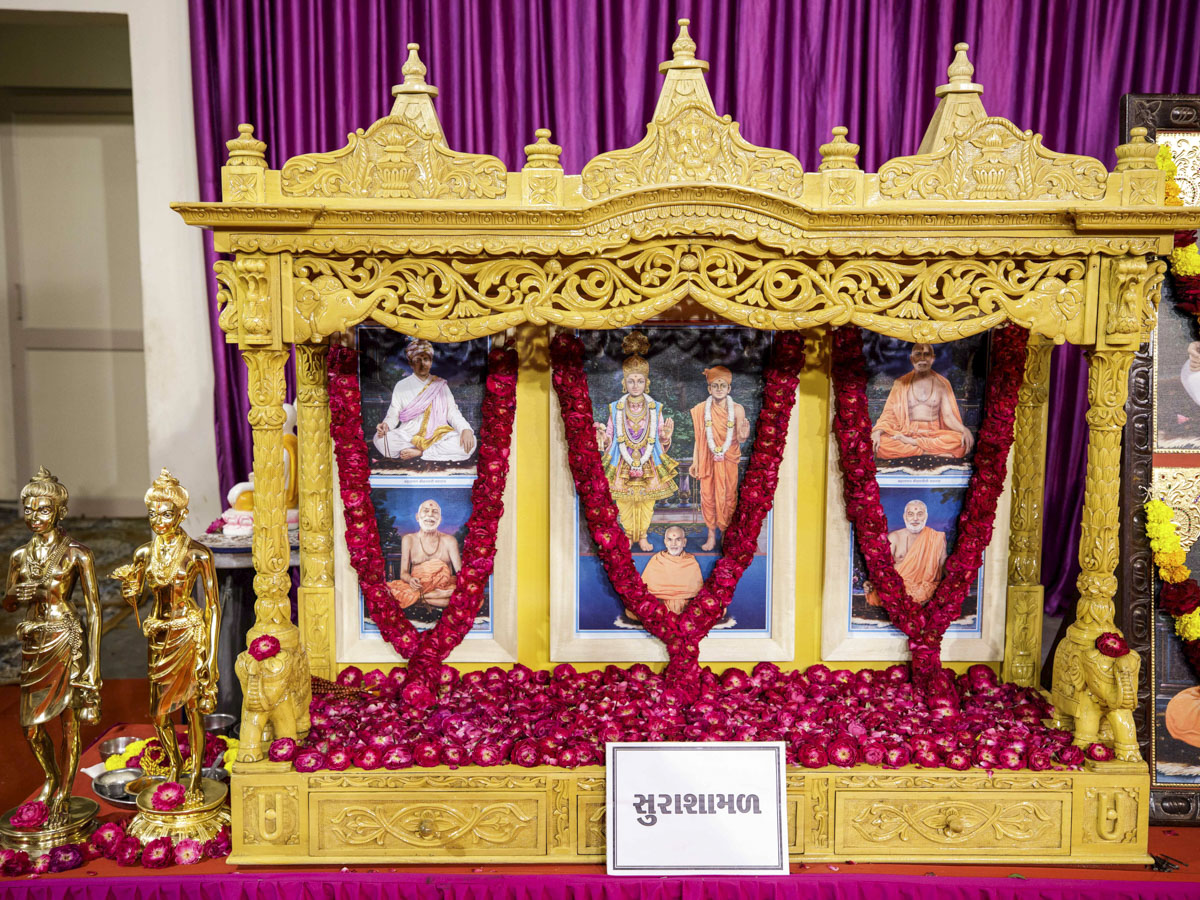 Murtis to be consecrated for the new BAPS Shri Swaminarayan Mandir at Surashamal, India
