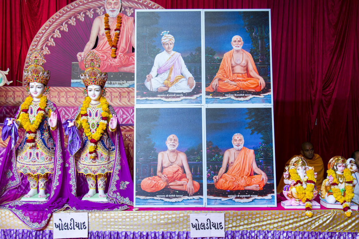Murtis to be consecrated at BAPS Shri Swaminarayan Mandir, Kholadiyad, India