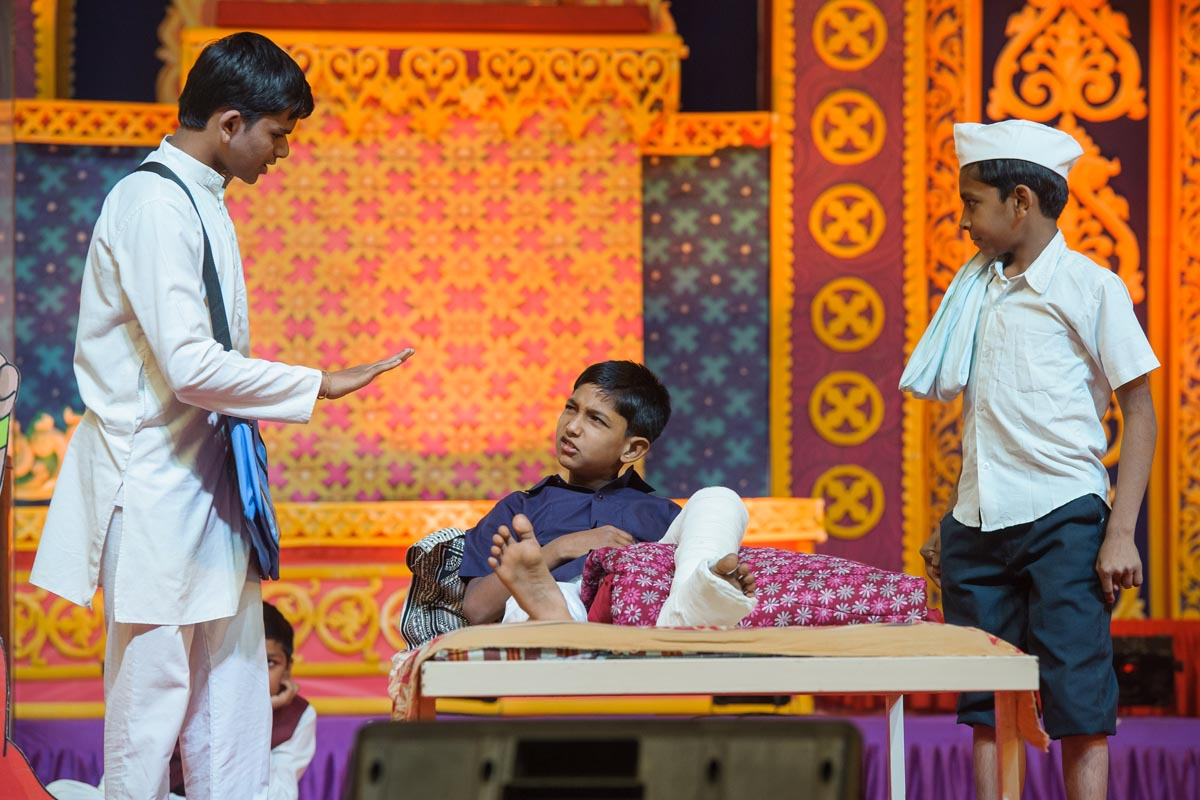 A skit presentation by children