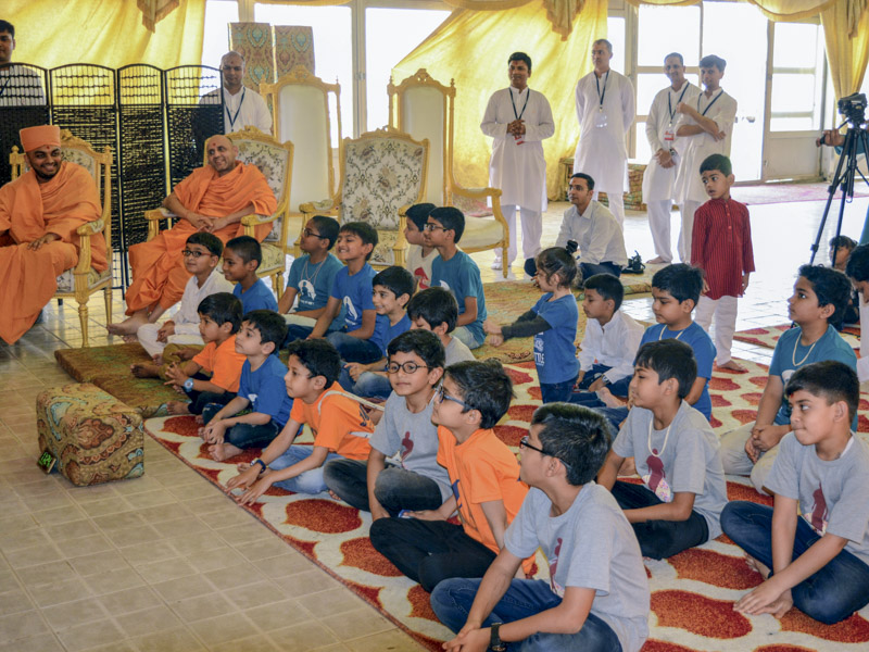 Children during the shibir