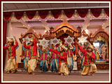 Kids present a cultural program in the Sunday satsang assembly