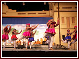 A traditional dance by youths