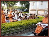 Skit presentation before Swamishri