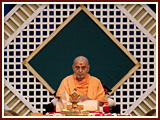 Swamishri in his morning puja