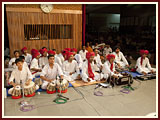 Celebration of Kishore-kishorie day during Swamishri's morning puja