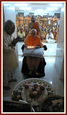 Swamishri performs pujan and arti of shrine at birthplace of Gunatitanand Swami
