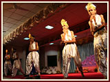 BAPS kids and youths perform a cultural dance