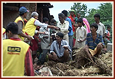 Relief Work at different BAPS Bochasan,10 August 2006