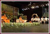 Morning,Kishores present a debate about college life in front of Swamishri