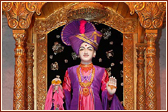 The sacred image of Ghanshyam Maharaj