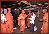 Sanctifying a hovel of a poor devotee