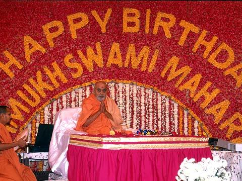 Morning Puja. Swamishri's 79th Birthday Celebration (English date).