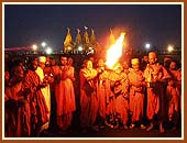 Saints performing special aarti of 'Dariyadev' - The Sea God