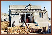 Carpenter's workshop on site