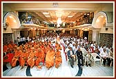 A public assembly of devotees and renowned medical professionals