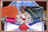 Lord Harikrishna Maharaj on the festival day of Joli and kite flying