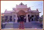 The newly consecrated Shree Swaminarayan Mandir