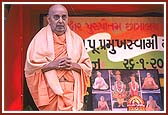 Swamishri during the National anthem