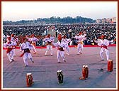 Cultural dances were performed in front of the thousands of devotees