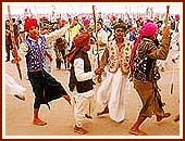 Tribals dance with joy on the main stage