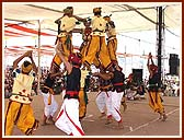 A thrilling tribal dance by trained youths