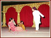 A costume drama was enacted on social evils and the importance of satsang