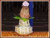 The Kalash on which Swamishri performed the pujan