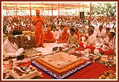 Blessings during the yagna