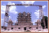 Shree Swaminarayan Mandir under construction in Sankari