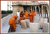 While paying a visit to the mandir, Swamishri keenly ascertains details and facts about the construction and makes suggestions wherever necessary