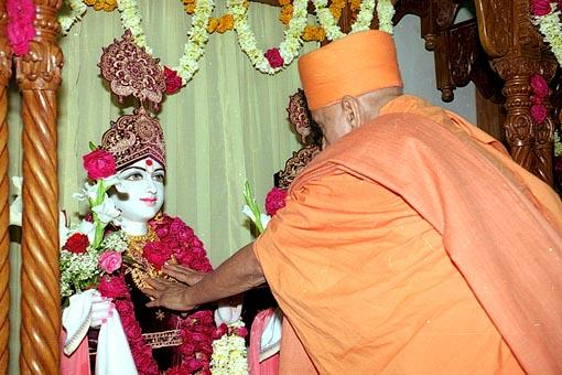Vedic rituals before entering the newly built mandir