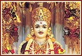 Beautifully adorned murti of Ghanshyam Maharaj