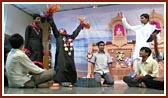 In the evening satsang assembly youths perform a cultural program