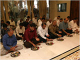 Pujya Viveksagar Swami and devotees engaged in patotsav mahapuja