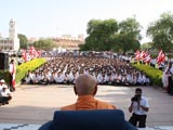 Swamishri blesses youths who have arrived for shibir