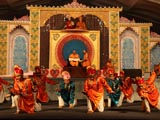 Kids and youths perform a cultural program in Bal Din assembly