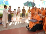 Skit presentations before Swamishri