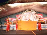 Youths perform a cultural program