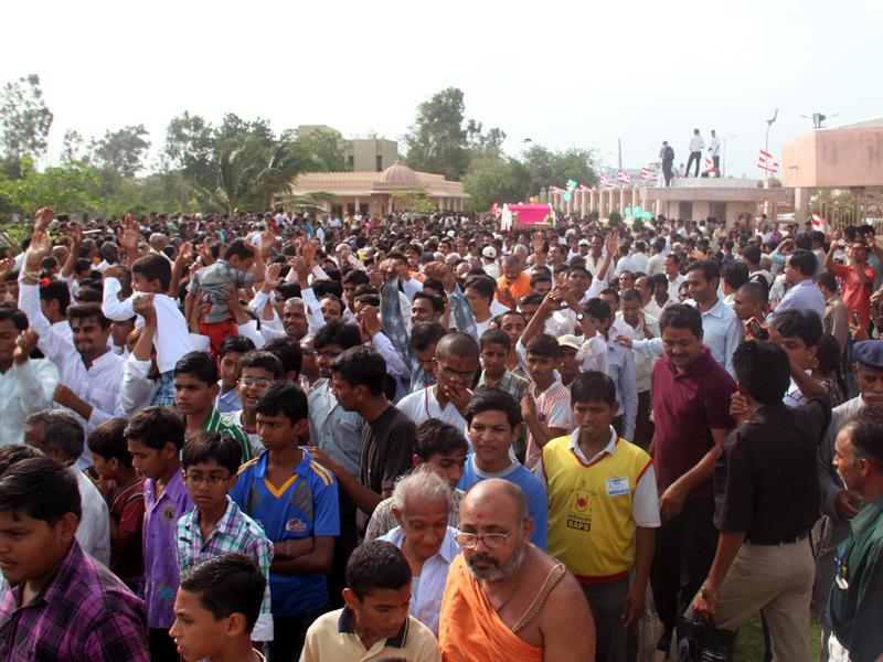 Rathyatra being  carried out in the mandir complex