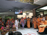 Kishores perform a cultural dance before Swamishri