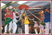 The welcome sabha begun by cultural dances presented by balaks and kishores