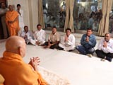 Swamishri blesses devotees from Chikhodra, Ghoghavadar, Moviya