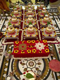 12 Kalashas for Parasnapan Vidhi as part of the 50th Patotsav of Ahmedabad Mandir