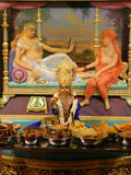 Annakut offered to Sukhshaiya and Shri Lalji Maharaj