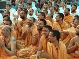 Sadhus and devotees enjoying the divine ambience