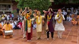 Devotees joyously participate in the celebrations