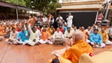 Youths sing kirtan in tradition 'ochchhav' style