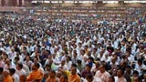Devotees during the sabha