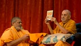 Swamishri inaugurates a video publication 'Satsang Darshan 118'