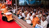 Swamishri blesses devotees from Vankal and Bhathena